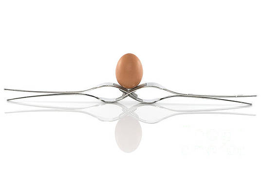 Compuinfoto   - egg in balance on four forks