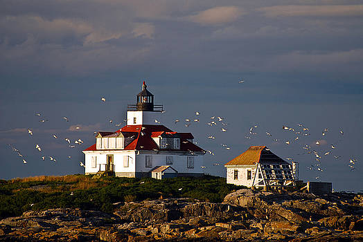 Egg Rock Light   Maine by Mark Wiley