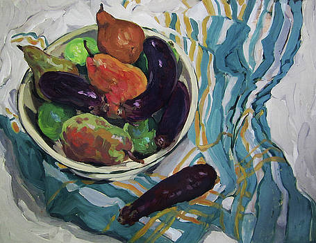 Eggplants and Pears by Lynn Gimby-Bougerol