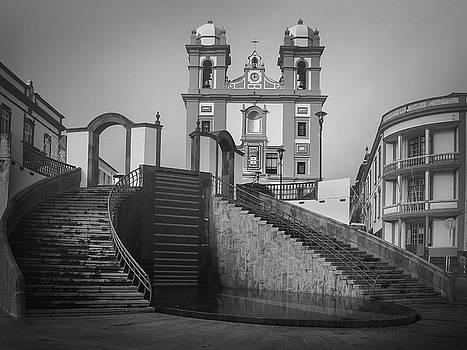 Egreja da Mesericordia and the Gateway to Angra do Heroismo in Black and White by Kelly Hazel