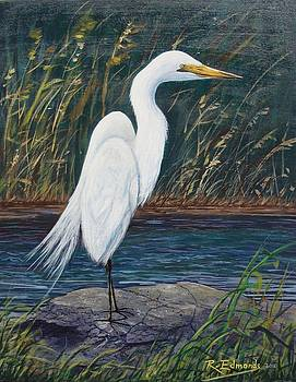 Egret by Raymond Edmonds