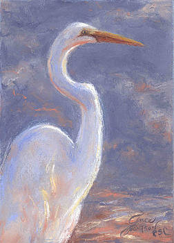 Egret Reflections by Grace Goodson
