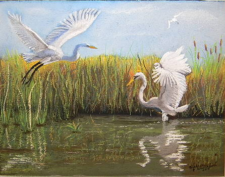 Egret Reflections by Kathryn Smithson
