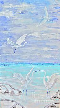 Egrets by Paola Correa de Albury