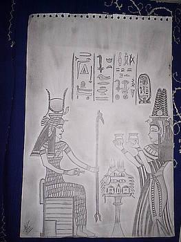 Egyptian Goddess by Aleena Saeed