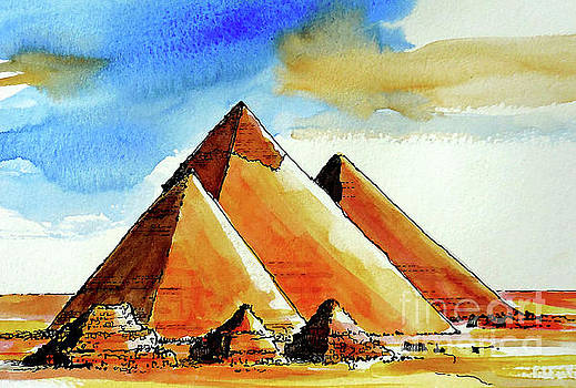 Egyptian Pyramids by Terry Banderas