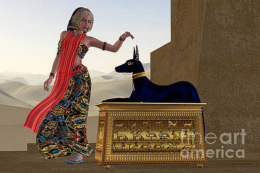 Corey Ford - Egyptian Woman and Anubis Statue