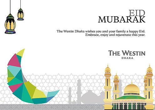 Eid card by Sayeed Iqbal