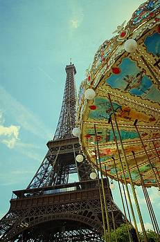 Eiffel Tower and Carrousel by  Kristina Rust