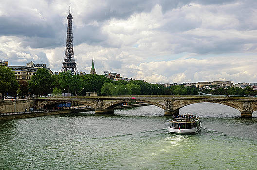 Eiffel Tower and the River Seine by Paul Warburton