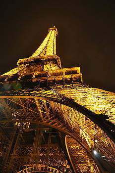 Eiffel Tower at Night by Caroline Reyes-Loughrey