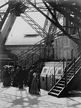 Eiffel Tower basement with steel construction, World Exhibition, 1900 by Vintage Printery