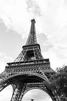 Eiffel Tower - BW by Ron Thornton