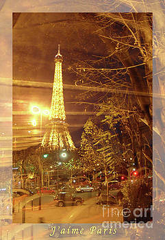 Felipe Adan Lerma - Eiffel Tower by Bus Tour Greeting Card Poster