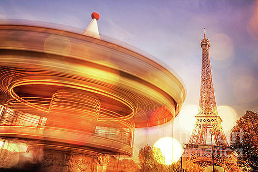 Delphimages Photo Creations - Eiffel tower carousel