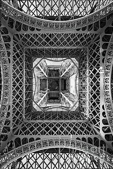Eiffel tower from below by Delphimages Photo Creations