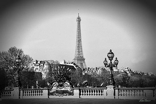 Eiffel Tower from Bridge by Diana Haronis