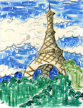 Eiffel Tower I by Suzanne Blender