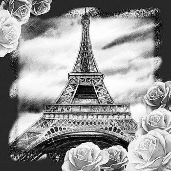Irina Sztukowski - Eiffel Tower In Black And White Design III