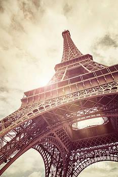 Eiffel Tower in sunlight by Jane Rix