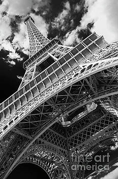 Eiffel Tower Infrared Abstract by Paul Warburton
