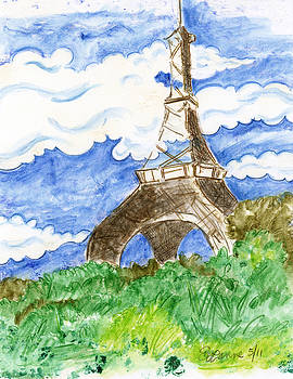 Eiffel Tower IV by Suzanne Blender