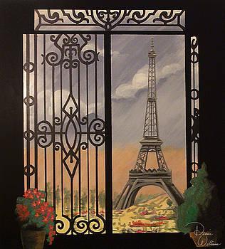 Eiffel Tower mural by Denise Jo Williams