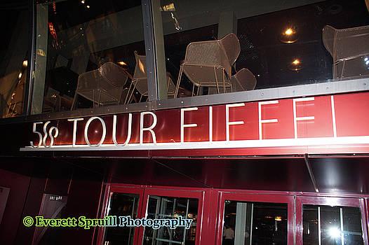Eiffel Tower Restaurant by Everett Spruill