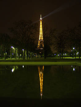 Eiffel Twin Reflection by Mark Currier