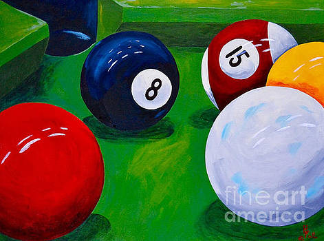 Eight Ball Corner pocket  by Herschel Fall