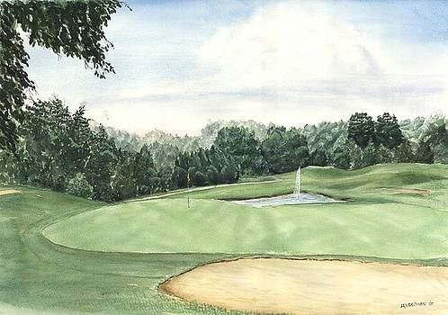 Eight green The Trails Golf Course by Lane Owen