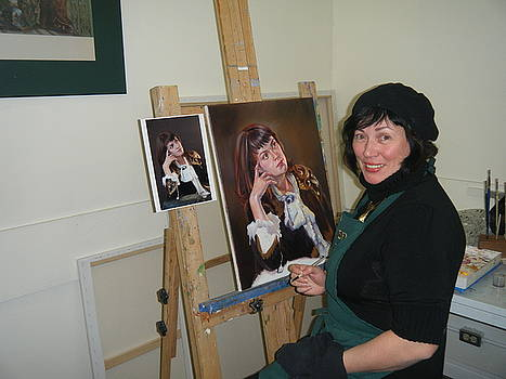 Ekaterin Pozdniakova at work by Ekaterina Pozdiankova
