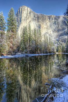 El Capitan From Cathedral Beach Winter Yosemite National Park by Wayne Moran
