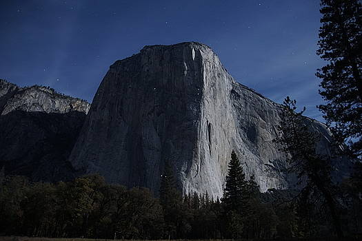 El Capitan In Moonlight by Michael Courtney
