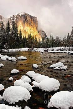 El Capitan in Winter Sunset by Tibor Vari