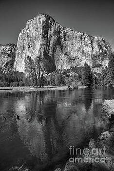 El Capitan Reflected in the Merced River of Yosemite by Terry Garvin