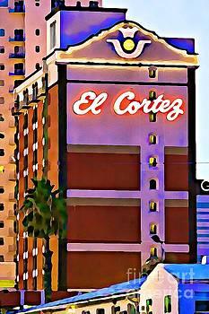 Tatiana Travelways - El Cortez hotel at dusk