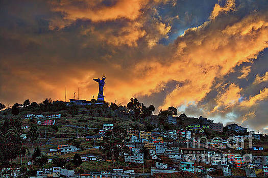 El Panecillo at Sunset - Quito, Ecuador by Sam Antonio Photography