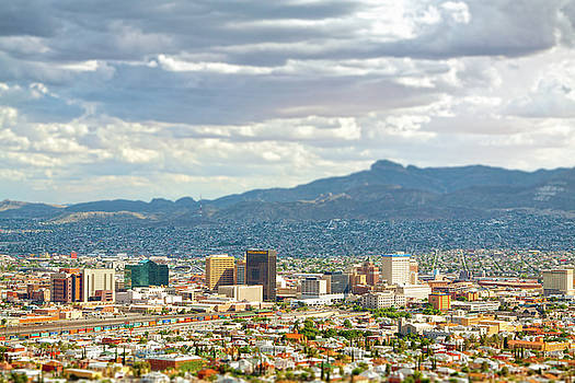 El Paso Texas Downtown View by SR Green