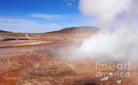 El Tatio Geysers in the Andes Mountains Atacama Desert Chile by Louise Heusinkveld