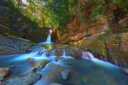 El Yunque Rainforest Waterfall by Brian Knott Photography