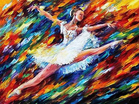 Elation - PALETTE KNIFE Oil Painting On Canvas By Leonid Afremov by Leonid Afremov