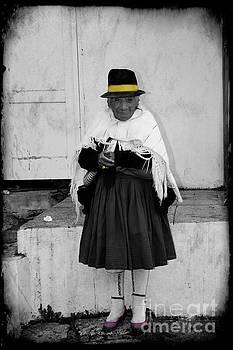 Elderly Beggar In Biblian by Al Bourassa