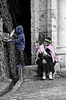Elderly Beggar In Biblian II by Al Bourassa