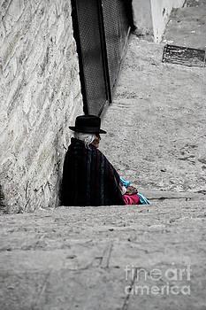 Elderly Beggar In Chordeleg by Al Bourassa