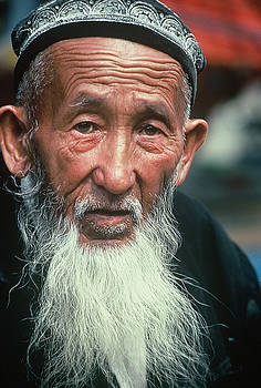 Elderly Man in China by Carl Purcell