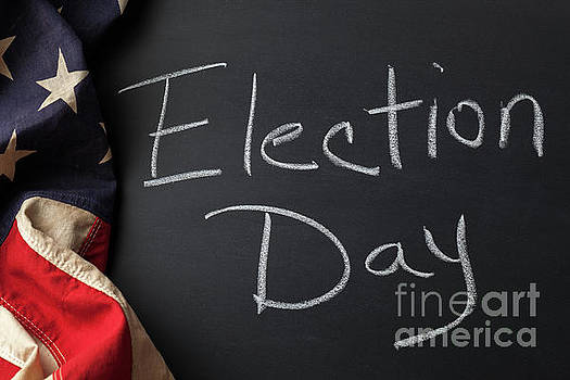 Election Day Sign by Leslie Banks