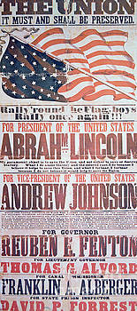 Electoral campaign poster for Abraham Lincoln, 1864 by American School