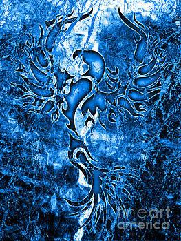 Electric Blue Phoenix by Robert Ball