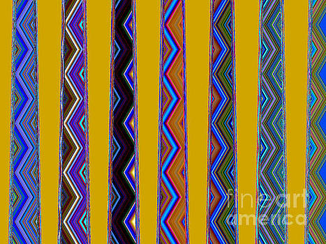 Electric Blue Spice World Tapestry by Ann Johndro-Collins